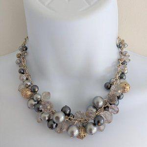 Premier Designs Bauble On Grey Bead Necklace